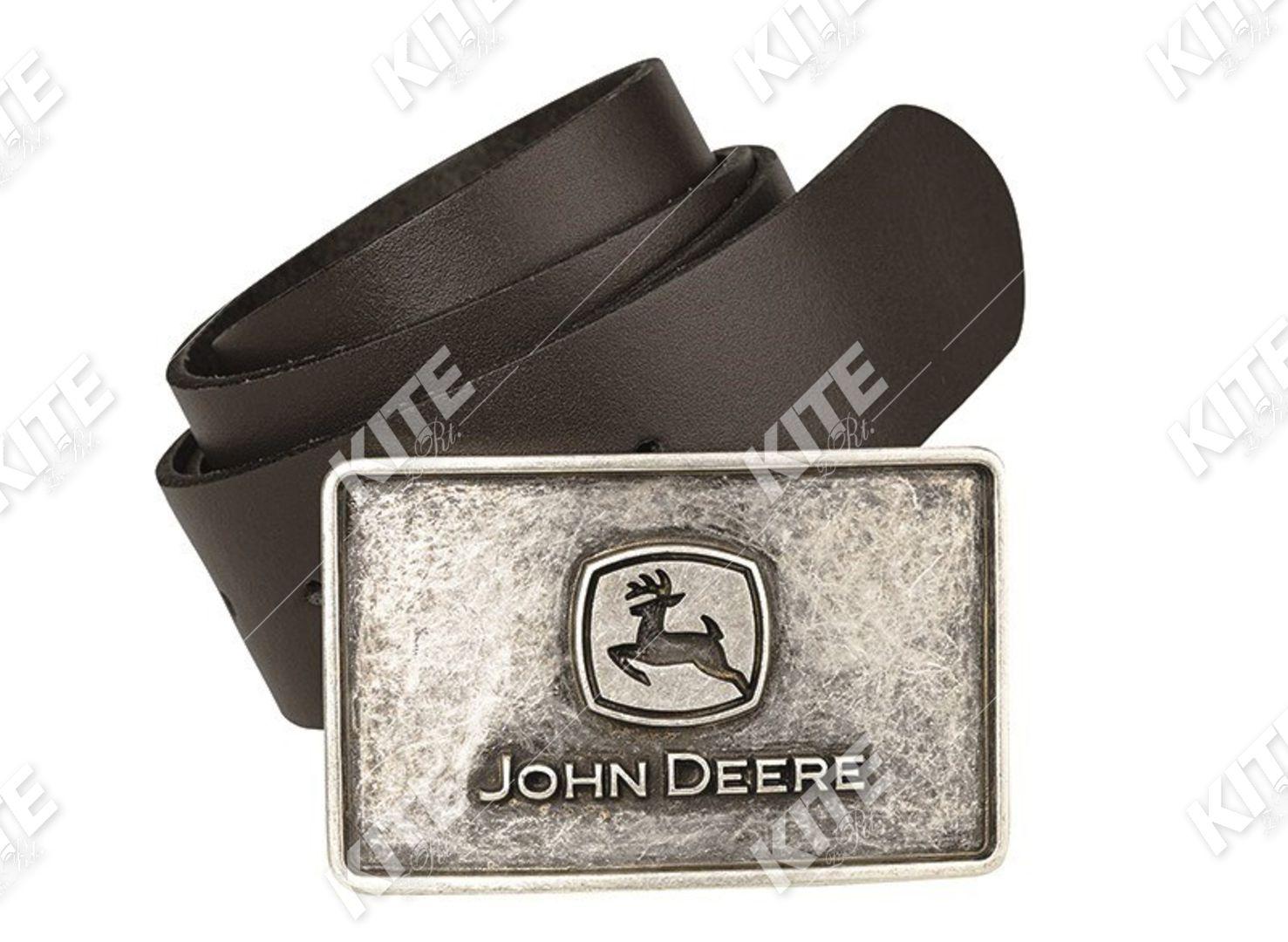 John Deere férfi bőr öv