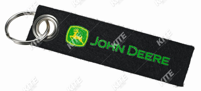 John Deere filc kulcstartó
