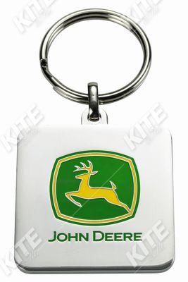 John Deere fém kulcstartó