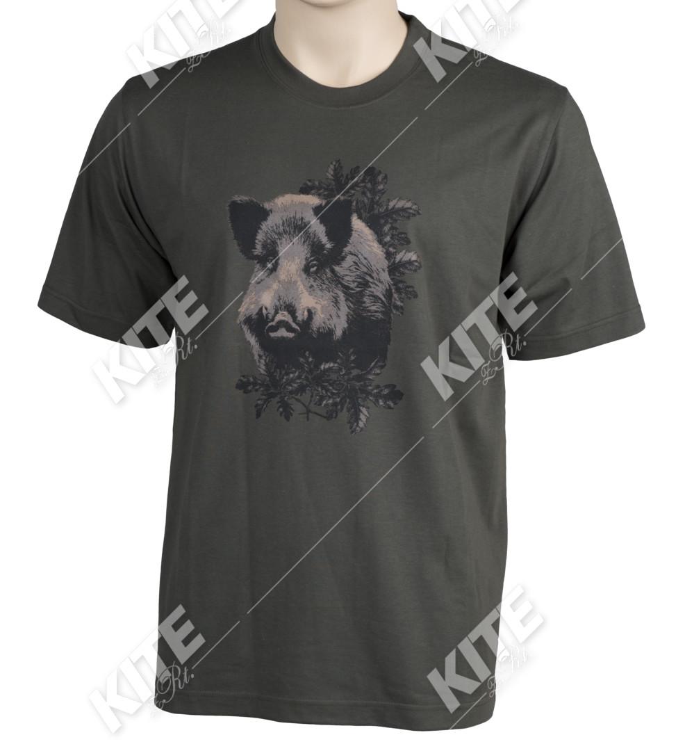 Vadász póló vaddisznó mintával