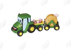 John Deere kistraktor haszonállatokkal