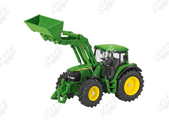 John Deere 6820 traktor homlokrakodóval