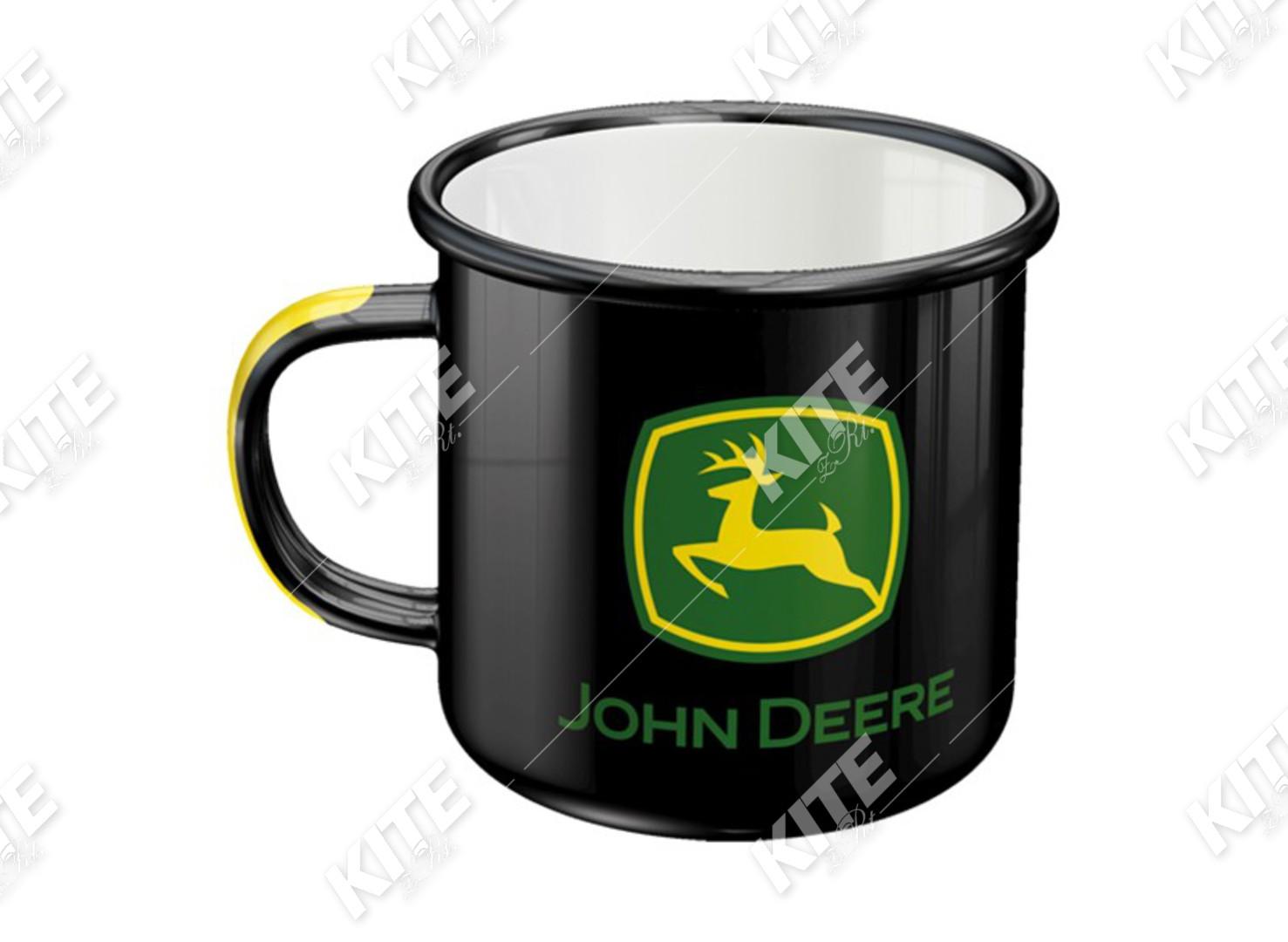 John Deere zománcos bögre